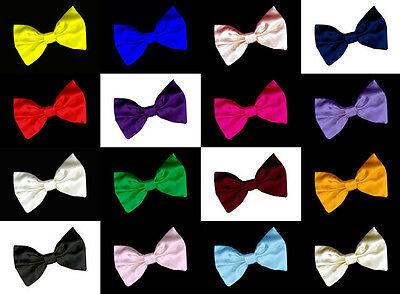 """Large 7"""" SATIN BOW wedding decoration for band/clip/hair/sash/dickie bow tie"""