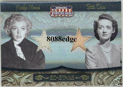 2007 Donruss Americana Co-Stars Dual Worn Swatch: Marilyn Monroe/betty Davis /25
