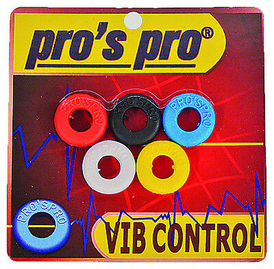 Pro's Pro VIB Control Tennis Racquet String Dampener Shock Absorber 5 Pack