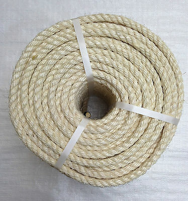 100 Mts X 6 Mm Natural Sisal Rope  Coil,    ( Cat Scratchers)