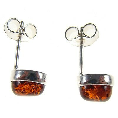 Baltic Amber Sterling Silver 925 Ladies Designer Stud Earrings Jewellery Jewelry