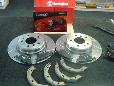 BMW 840ci (E31) BREMBO DRILLED GROOVED BRAKE DISCS PADS HB SHOES