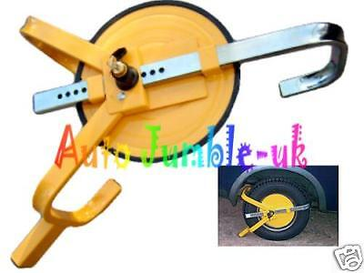 Wheel clamp lock ROUND FULL FACE security car caravan