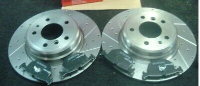 Bmw 840Ci (E31) Brembo Drilled Grooved Brake Discs Pads Rear