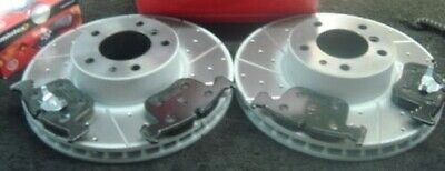 Bmw 840Ci (E31)  Drilled Grooved Brake Discs Pads Front