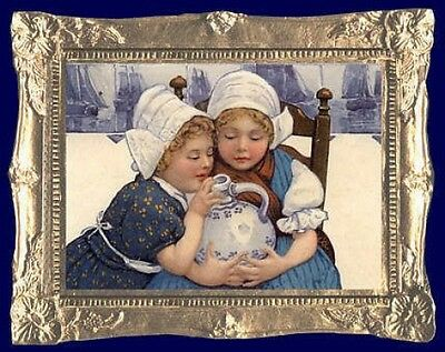 FAST DELIVERY MADE IN USA 1610 DUTCH GIRL Dollhouse Picture Art Miniature