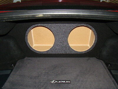 """2006-2012 Lexus IS350 & IS250 2-12"""" Subwoofer Sub Box W/Ressed Face  (Ver.3)"""
