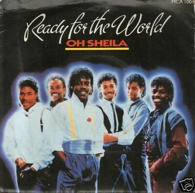 "READY FOR THE WORLD oh sheila 7"" PS EX/EX"