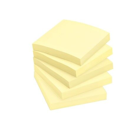 12 x Re-Move Notes Sticky Notes - 76 x 76mm - 100 Sheets per Pad -12 Pads Yellow
