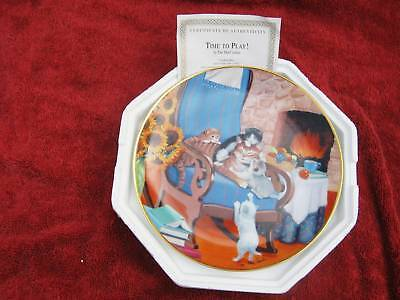 """""""time  To  Play""""  Franklin Mint Plate"""