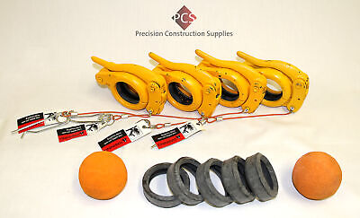 "3"" Accessories Pack for Concrete Pumps Incl Snap Clamps,Gaskets,Sponge Balls"