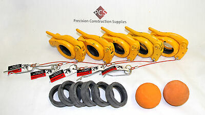 "4"" Accessories Pack for Concrete Pumps Incl Snap Clamps,Gaskets,Sponge Balls"