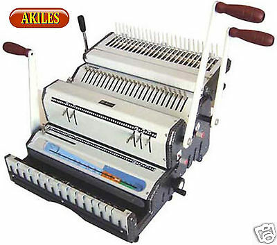 Akiles Duomac-C51 Binding Machine & Punch 5:1 Coil & Combs & Wire [New] Combo