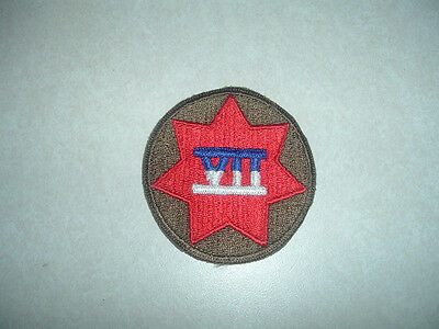 Military Patch US Army 7th Corps Dress Colored Sew On Germany Authentic Class A