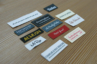 300 Custom Woven Labels 300pcs lot clothing tag (letters only)