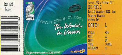 England V France Rugby World Cup Semi Final 2003 Ticket