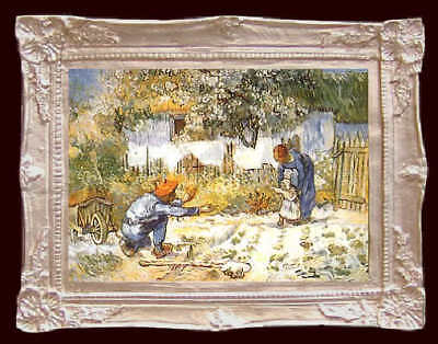 Van Gogh FIRST STEP Dollhouse Picture - FRAMED Fine Art - MADE IN AMERICA