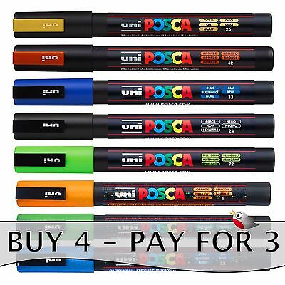 POSCA PC-3M MARKER by Uniball - **SPECIAL OFFER - BUY 4, ONLY PAY FOR 3!**