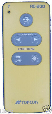 Topcon RC-200 Remote for All TP-L5/4/3 Series Pipe Lasers - B,A,BG,G,GV