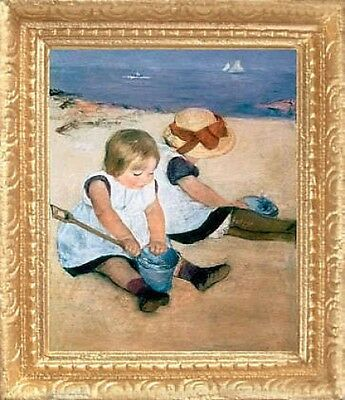 FAST DELIVERY Miniature Art PLAYING ON BEACH Dollhouse Picture MADE IN USA