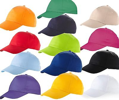 Us Basic Baseball Cap Hat 12 Colours