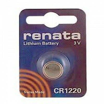 Renata Swiss Made Lithium CR1220 Cell Coin Button Battery 3V for Watch Key x 1