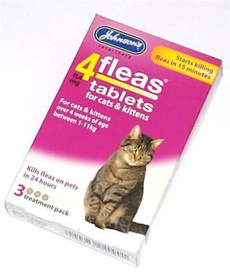 Johnsons Flea Tablet Tablets Treatment for Cats and Kittens Killing Fleas