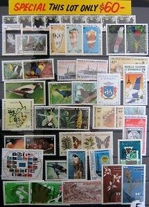 New Caledonia Muh-46 Stamps All Different