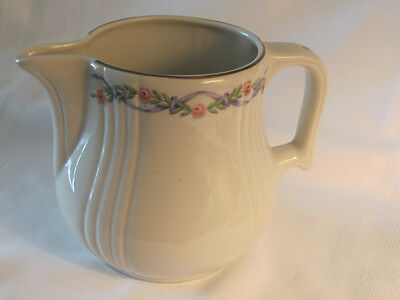 USA Hall's Superior Kitchenware China Wildfire Radiance #5 Jug gold trim 8 cup