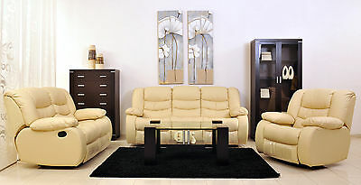 set 3 2 1 ledersofa ledergarnitur wohnlandschaft leder. Black Bedroom Furniture Sets. Home Design Ideas