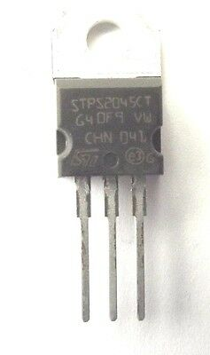 STPS2045CT =MBR2045CT Diode Schottky 45V 20A 3-Pin configured 2x10Amp 45v  x1pc