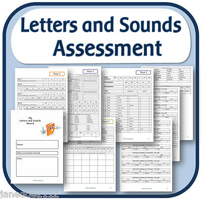 LETTERS and SOUNDS Phases 2 - 6 pdf Phonics Assessment booklet on CD to print