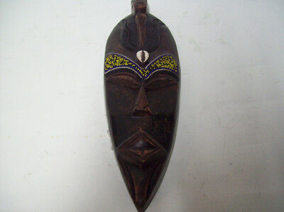 """African Hand Carved Tribal Mask 17""""x5""""                                        sg"""