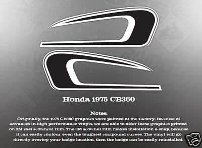 HONDA 1975 GL1000 FAUX TANK AND SIDE COVER DECALS GRAPHIC SET LIKE NOS RED MODEL
