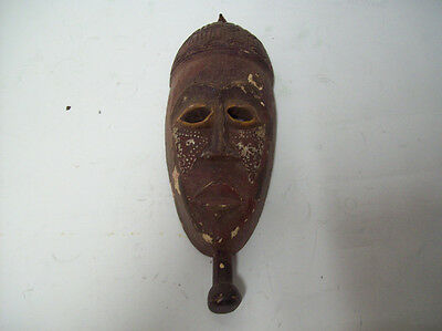 "African Hand Carved Tribal Mask 14""x5""                           sg"
