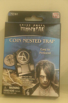 Criss Angel Mind Freak COIN NESTED TRAP Magic Trick Easy Perform Kit New