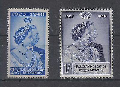 Falkland Islands Dependecies Kgvi 1948 Silver Jubilee Mnh Set Perfect Quality