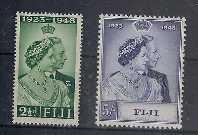 Fiji Kgvi 1948 Silver Jubilee Mnh Set Perfect Quality