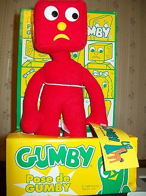 GUMBY AND FRIENDS BLOCKHEAD TOY NWT 1998 PREMA TOY FREE DOMESTIC SHIPPING