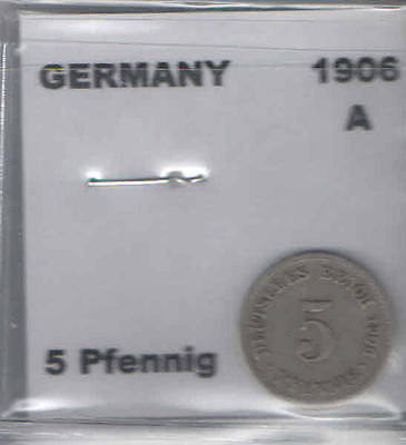 1906 A German 5 Pfennig Coin G-VG