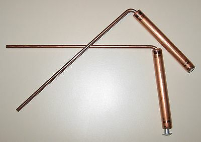 NEW! Mini COPPER Ghost Hunting Hunter Detection Detector Paranormal DOWSING RODS