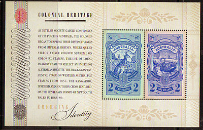 AUSTRALIA 2011 COLONIAL HERITAGE MINIATURE SHEET UNMOUNTED MINT, MNH