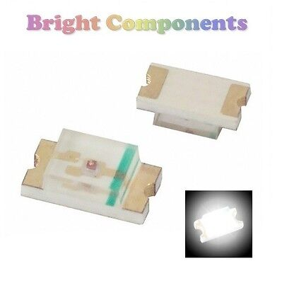 10 x 0603 White LED (SMD) - Ultra Bright  - UK - 1st CLASS POST