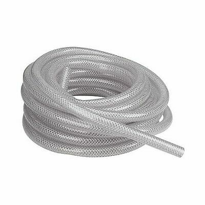 "3/8"" I.D. Braided Reinforced Clear PVC Tubing - Sold per 1' Length"