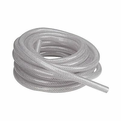 "1/2""  Reinforced Vinyl Tubing - Sold per 1' Length - Clear Braid Reinforced PVC"
