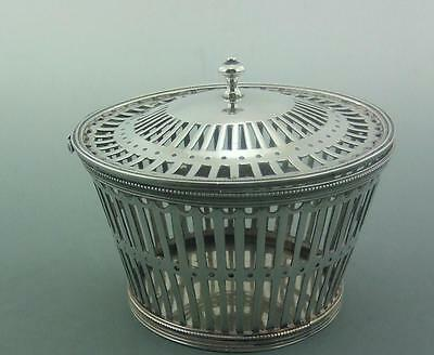 VICTORIAN SILVER LIDDED BASKET WILLIAM COMYNS