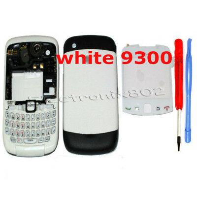 For Blackberry 9300 Curve Housing Fascia Battery Cover Keypad Lens White Tools