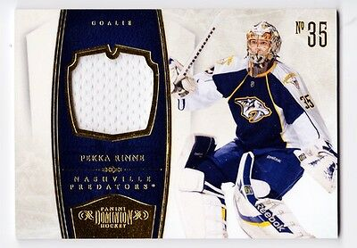 Pekka Rinne 2011 Panini Dominion #55 Game Worn Used Jersey #'d 31/99 Rare