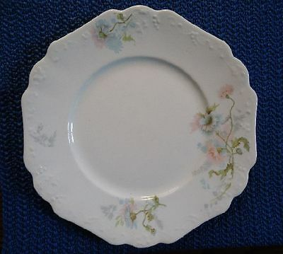 Johnson Brothers China Blue Flowers Scalloped Embossed edge Dessert Plate