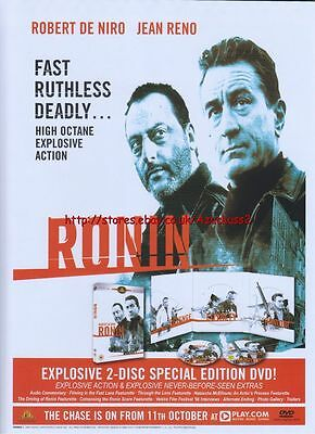 Ronin Special Edition DVD 2004 Magazine Advert #2857